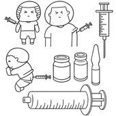 Insieme di vettore della medicina di iniezione