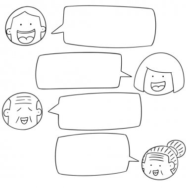 vector set of people talking