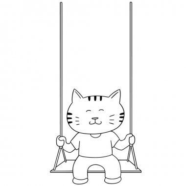 vector set of cat swing
