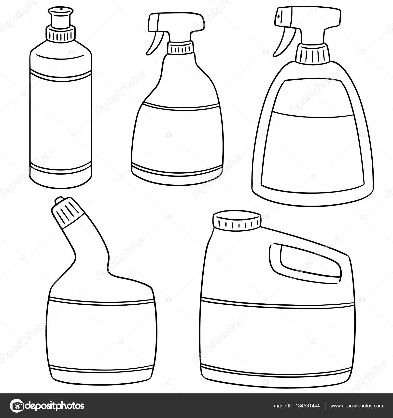 Vector Set Of Bathroom Cleaning Solution Stock Vector - Bathroom cleaning solution