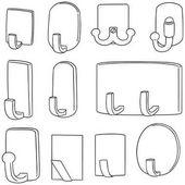 Photo vector set of wall hooks