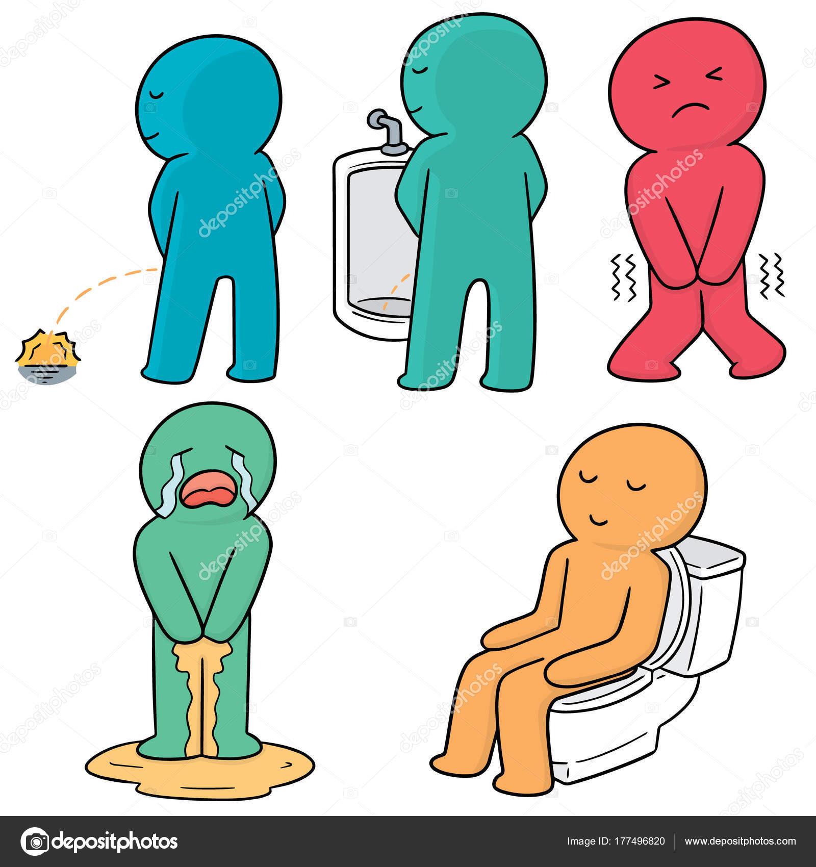 Clip art man peeing