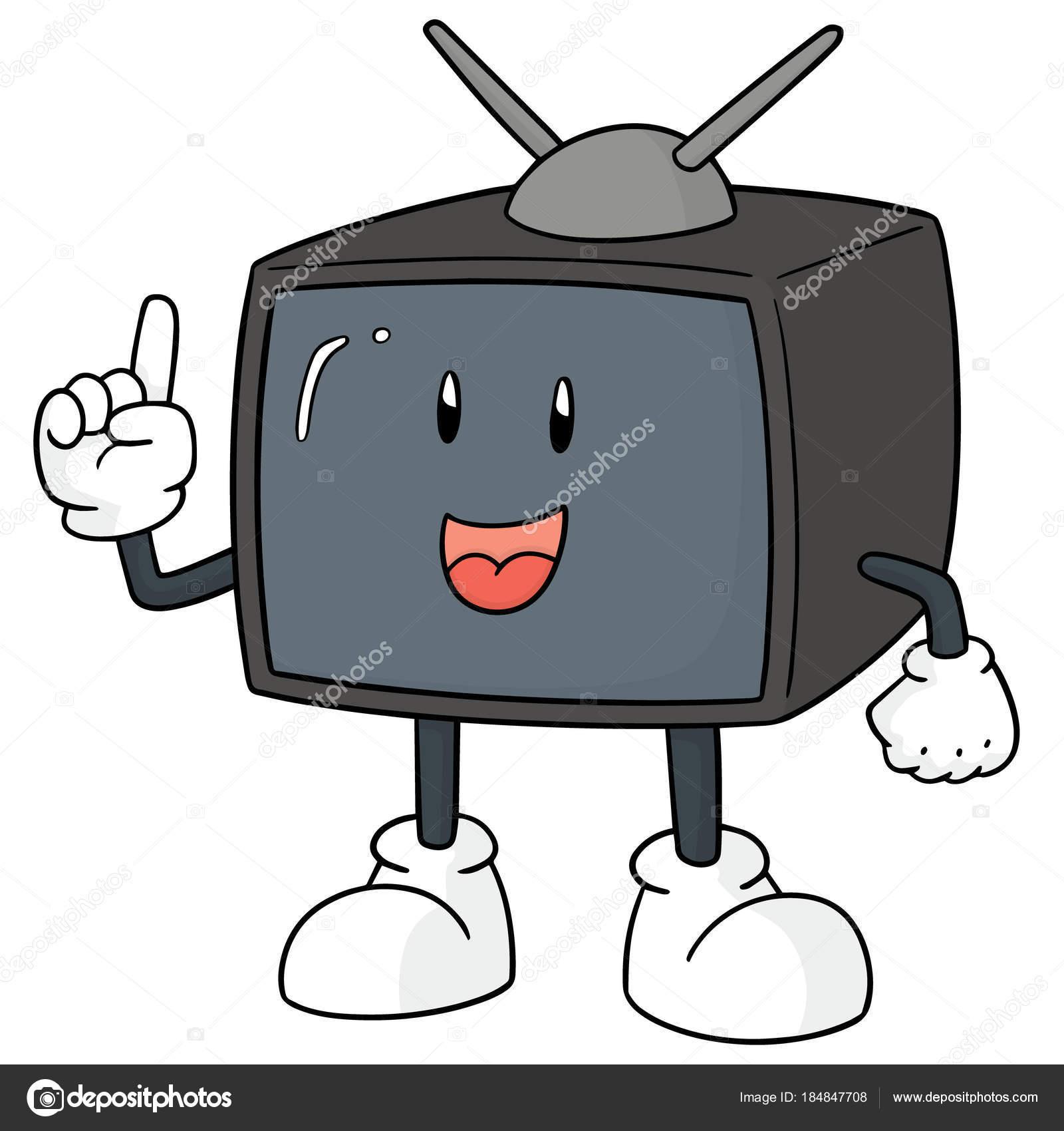 Vektör Televizyon Karikatür Stok Vektör Ourlifelooklikeballoon