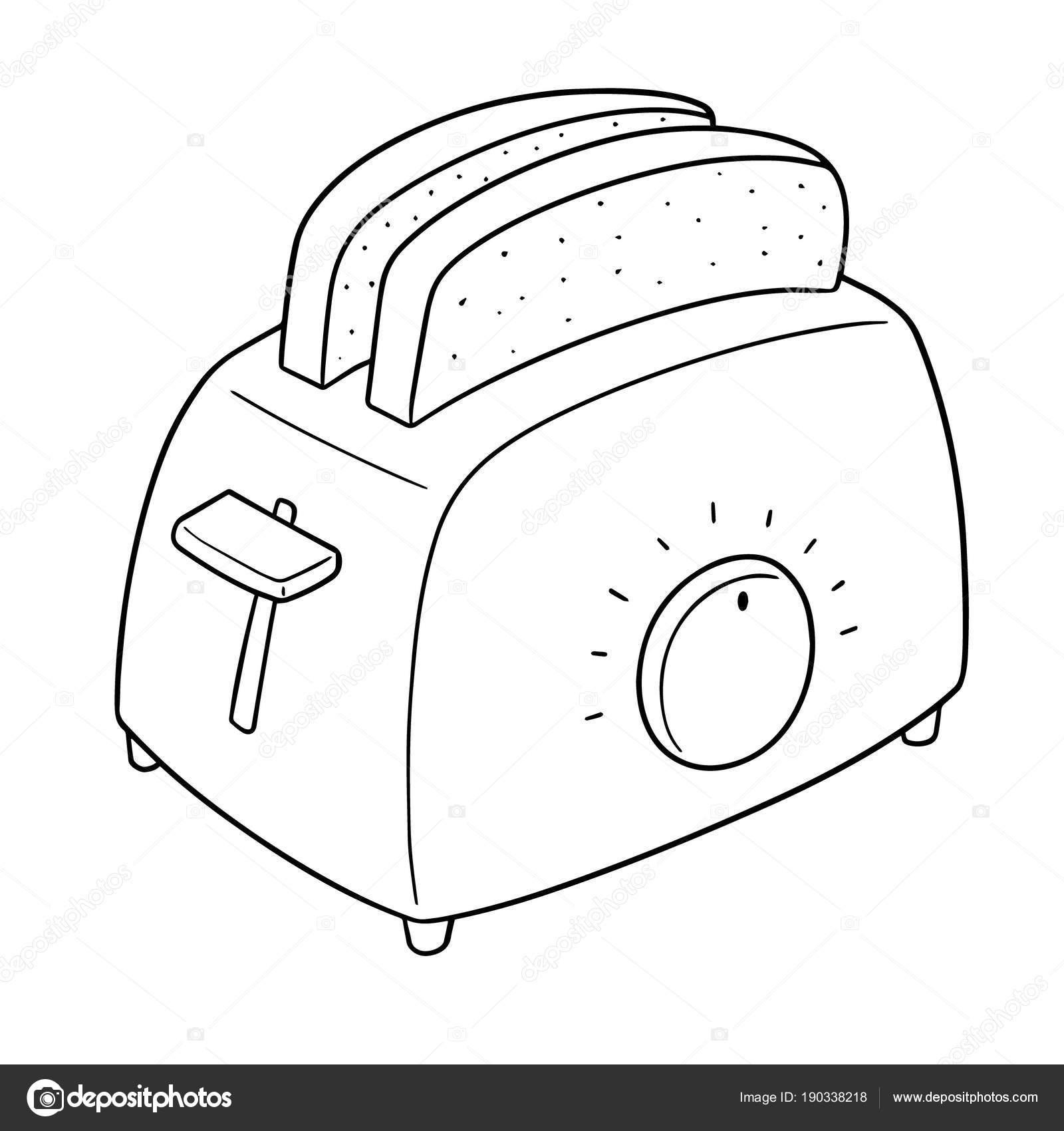 Vector Set Bread Toaster Stock Vector Ourlifelooklikeballoon