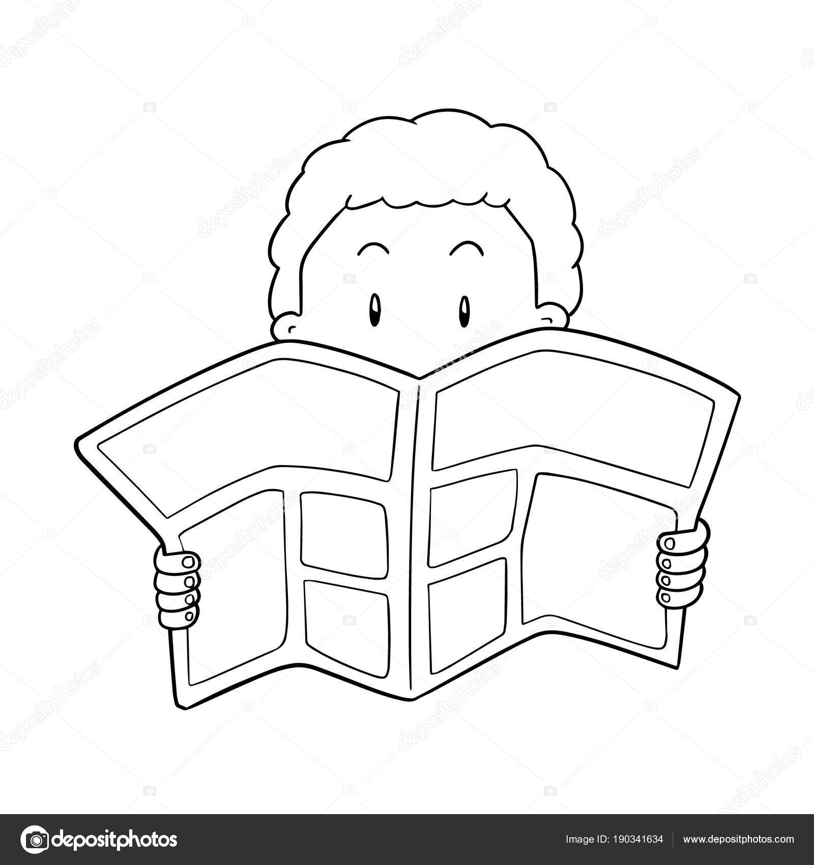 vector people reading newspaper — stock vector