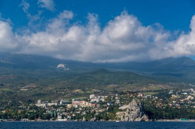 View of the village Gurzuf from the sea