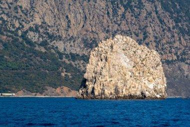 Adalar rock on a background of Ayu-Dag mount