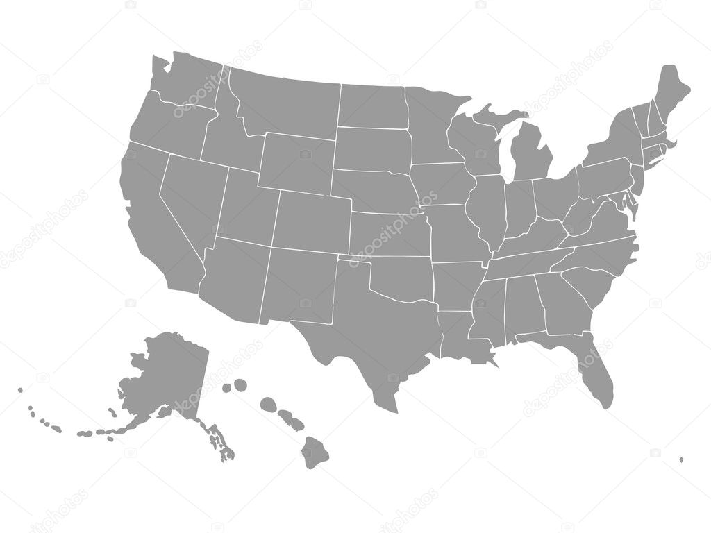Usa Map Outline Vector Blank outline map of U...