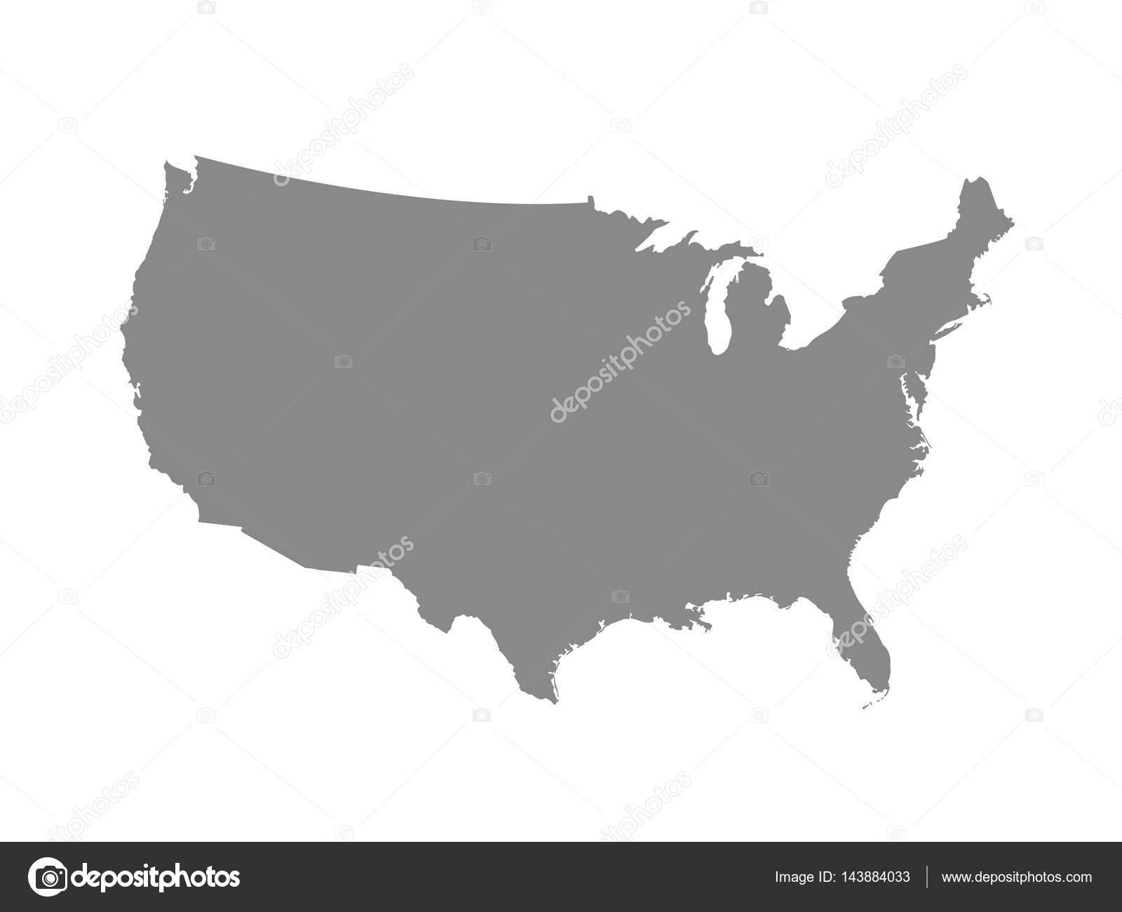 blank similar usa map isolated on white background united states of