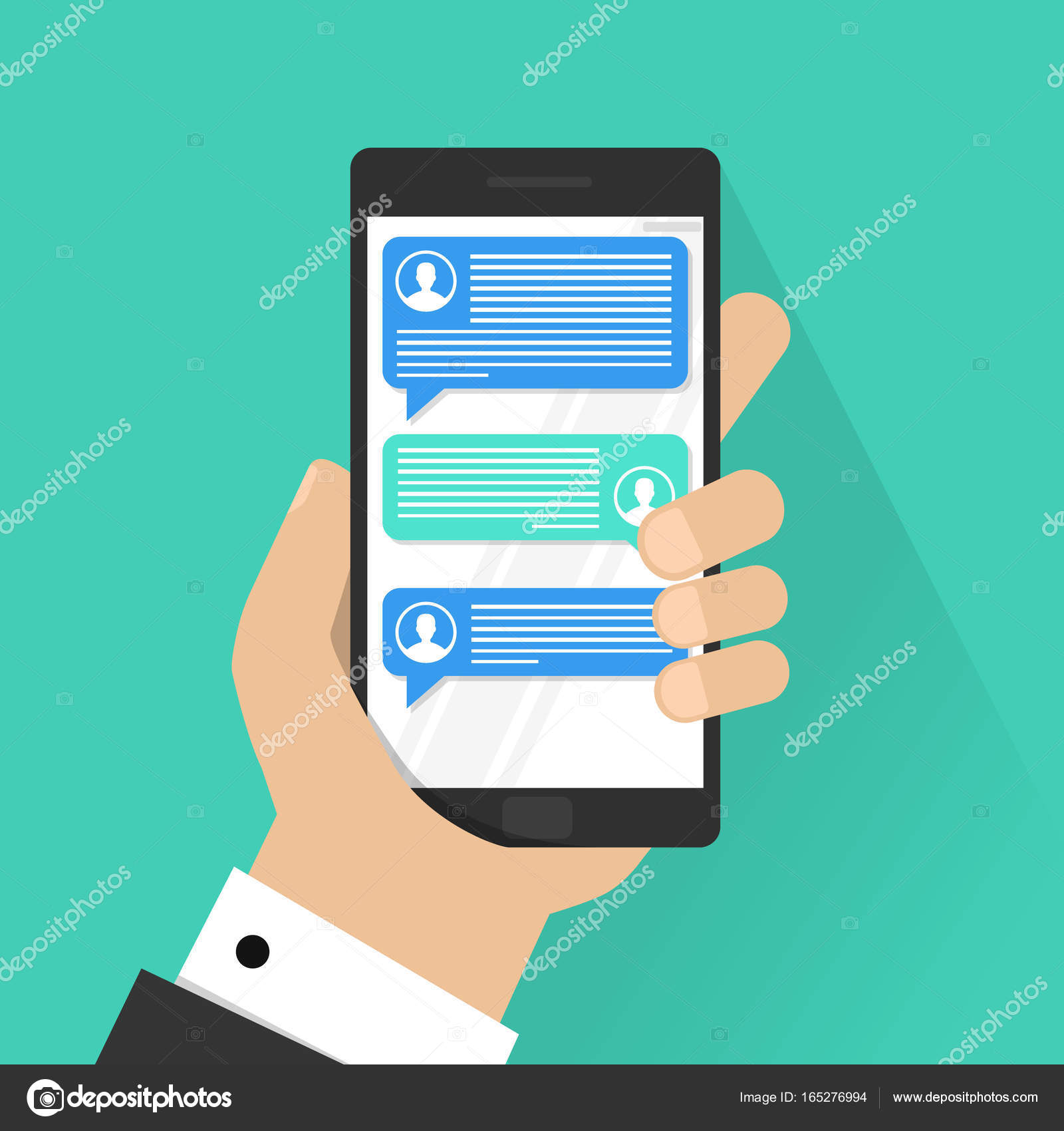 Telefon-Chat-Zeilen