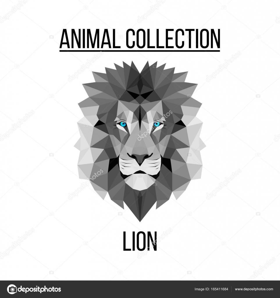 Tete De Lion Geometrique Image Vectorielle Aliakseizykau Gmail Com
