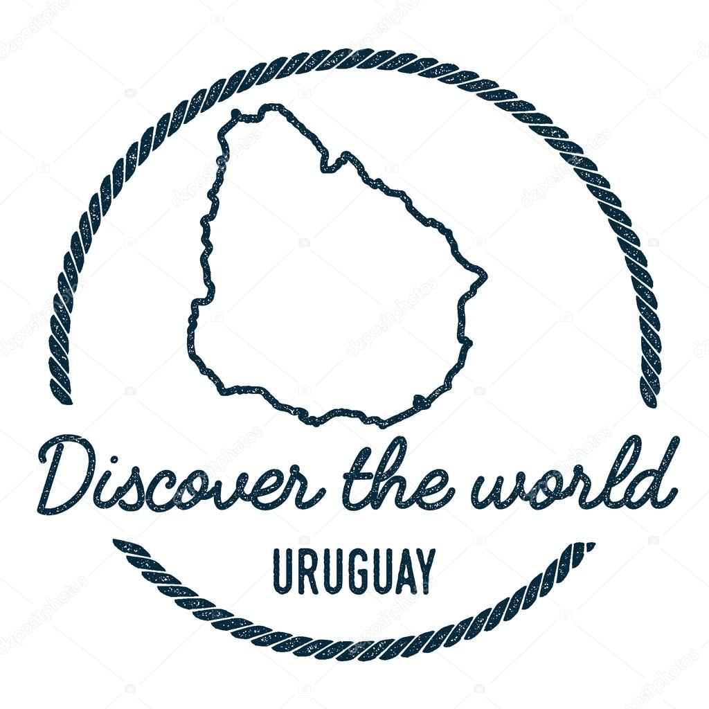 Uruguay map outline vintage discover the world rubber stamp with vintage discover the world rubber stamp with uruguay map hipster style nautical rubber stamp with round rope border country map vector illustration gumiabroncs Choice Image