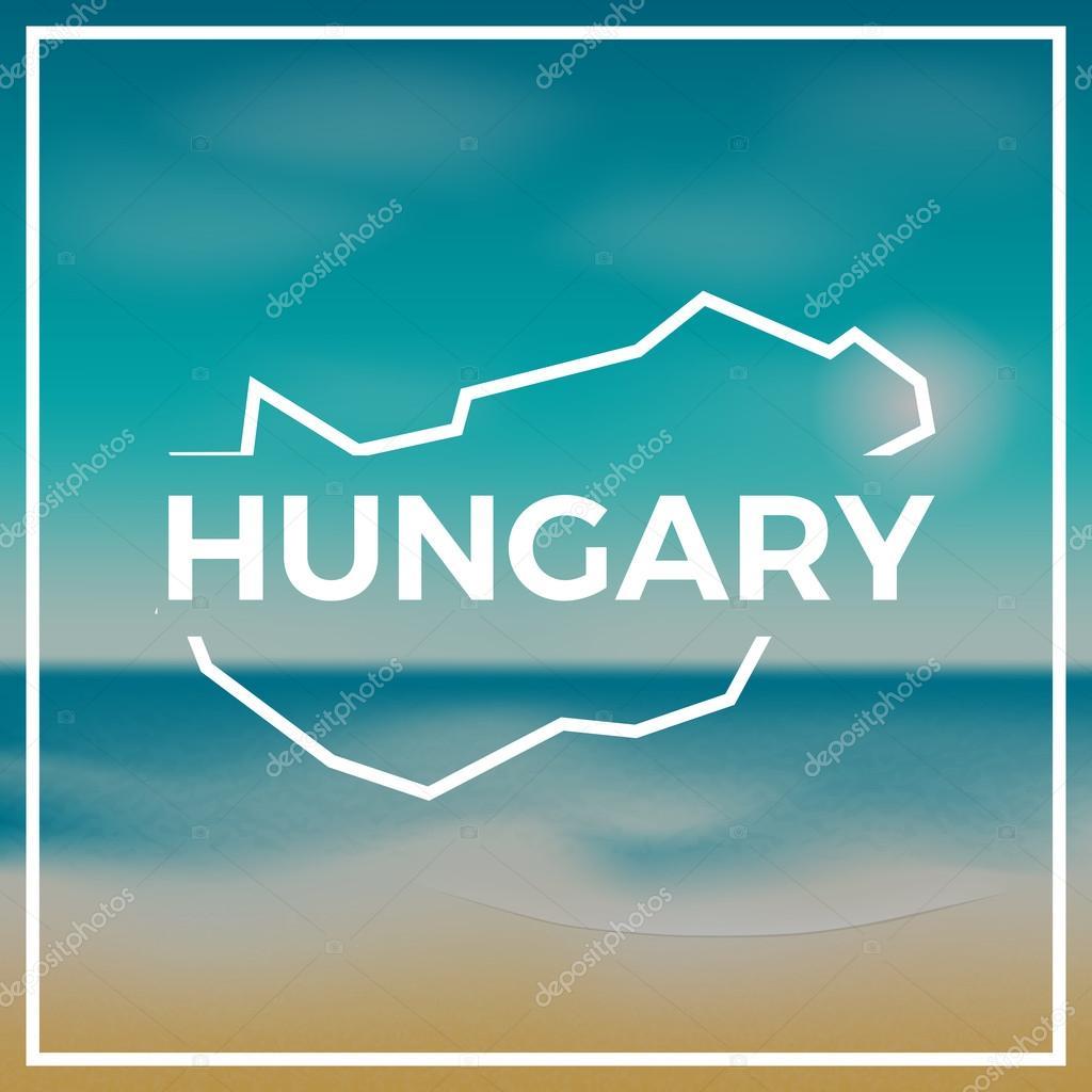strand térkép magyarország Magyarország Térkép durva vázlat a háttérben, a strand és a  strand térkép magyarország