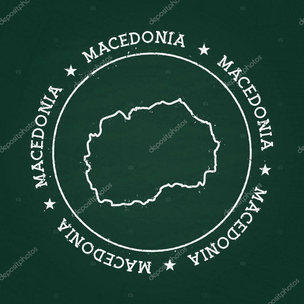 Grune Karte Mazedonien.Weisse Kreide Textur Gummidichtung Mit Der Ehemaligen