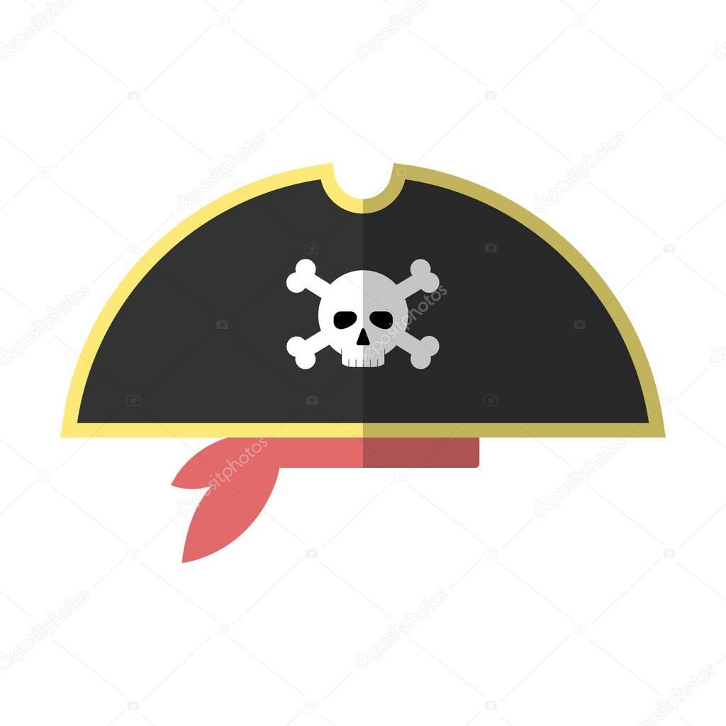 Düz Korsan şapkası Izole Simge Vektör çizim Stok Vektör Doozydo
