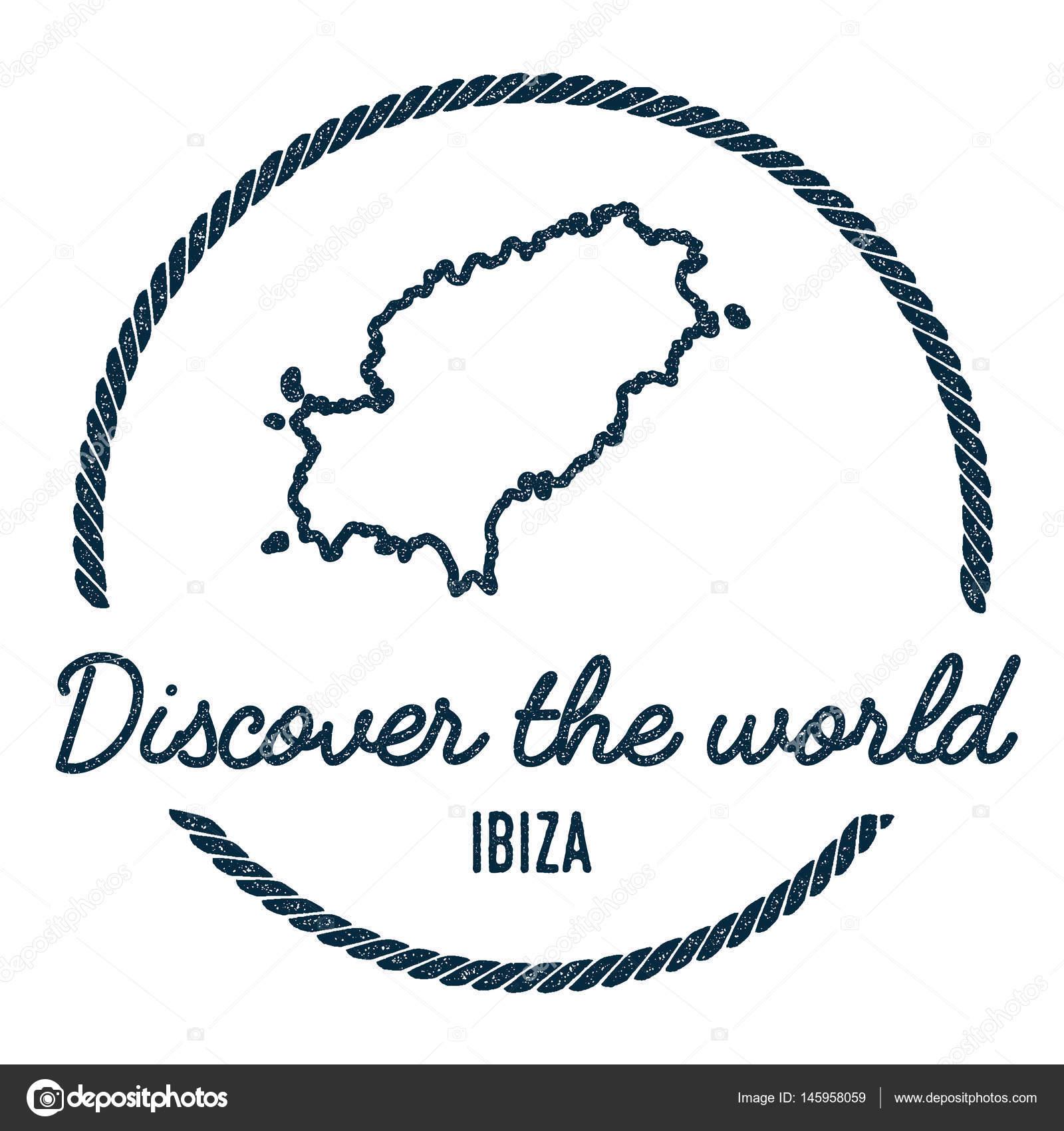 Ibiza Karte Umriss.Ibiza Karte Umriss Vintage Entdecken Die Welt Stempel Mit Insel