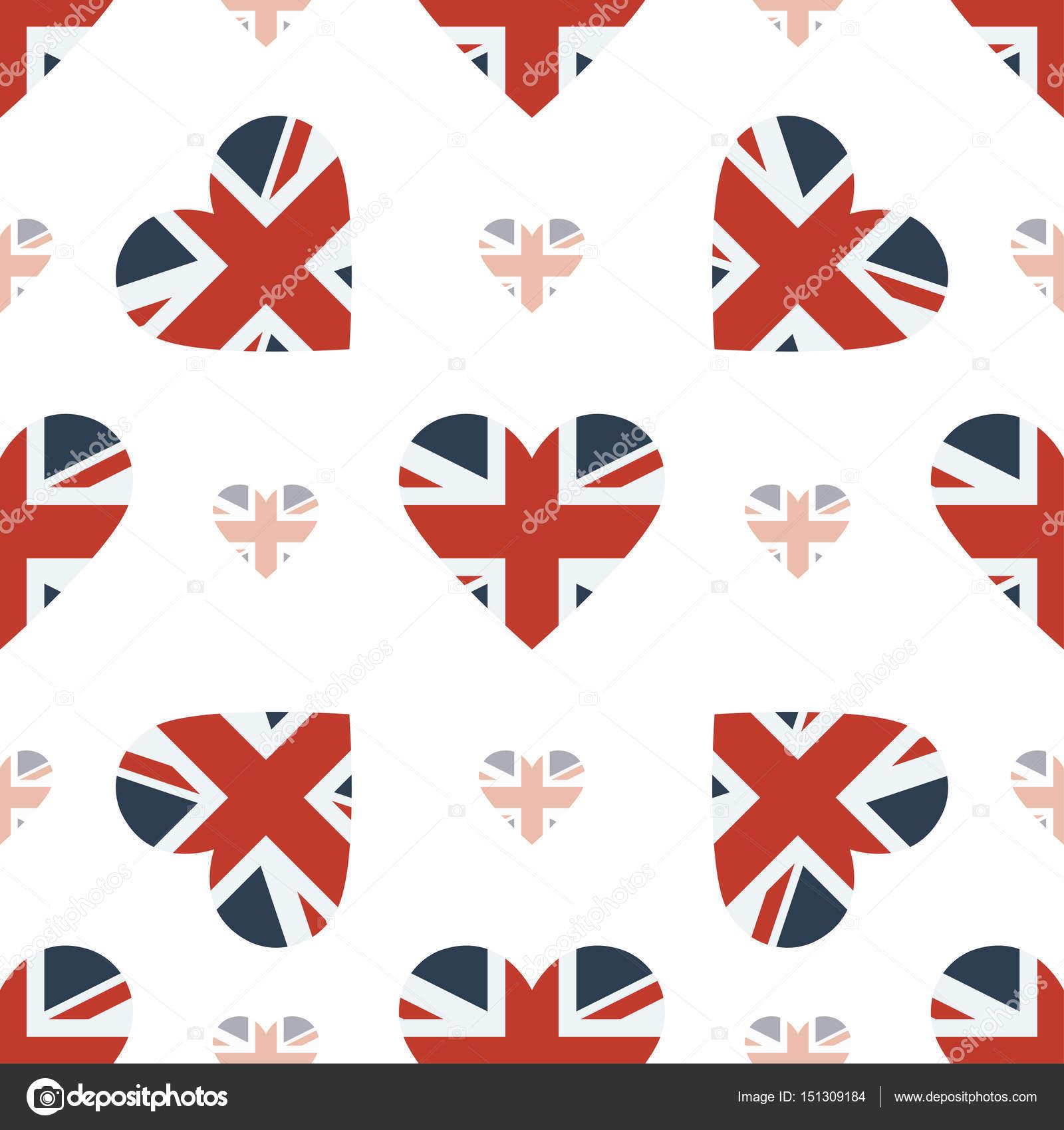 Reino Unido bandera patriótica de patrones sin fisuras la bandera ...