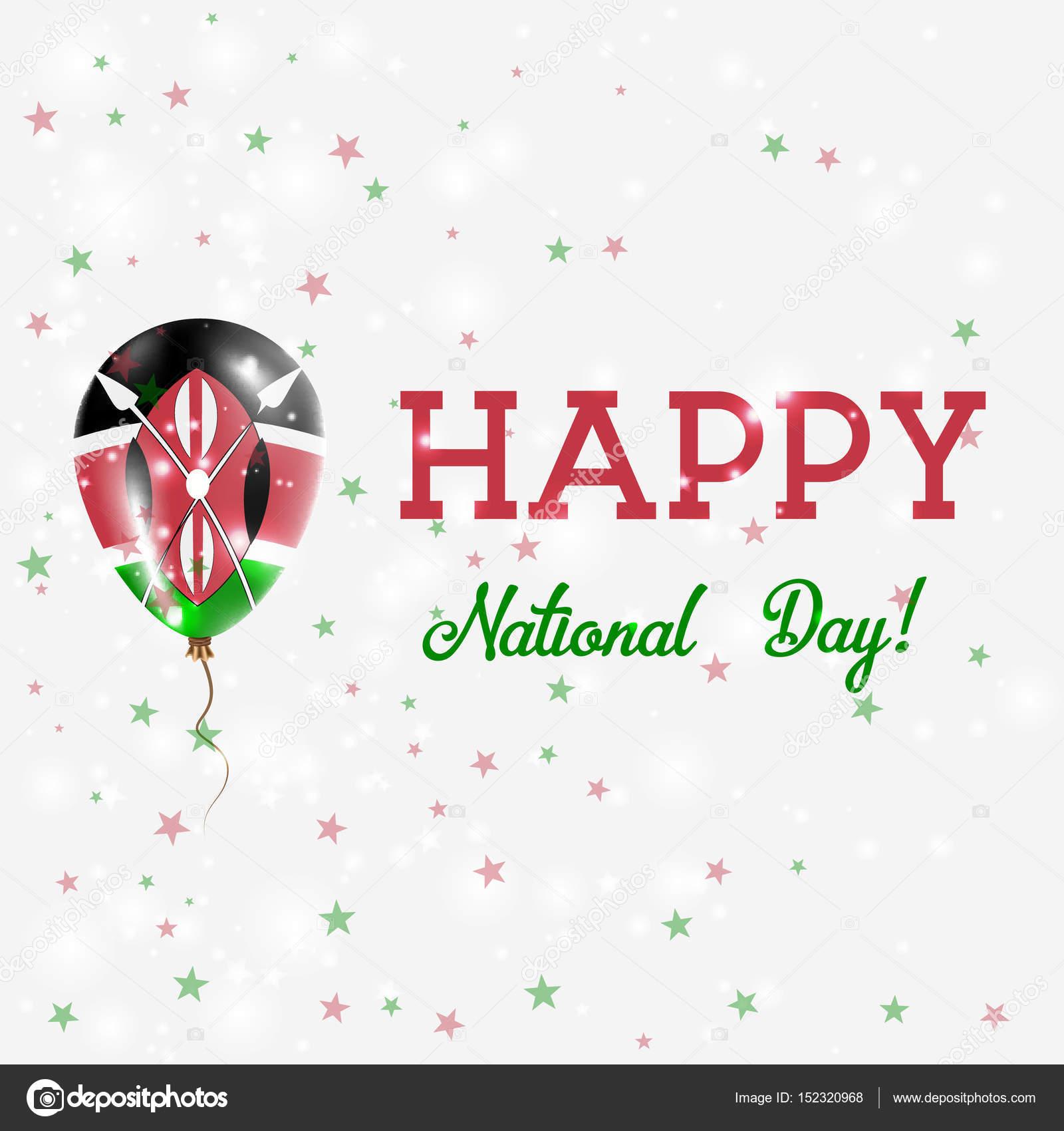 Kenya National Day patriotische Poster Flying Rubber Ballon in den ...