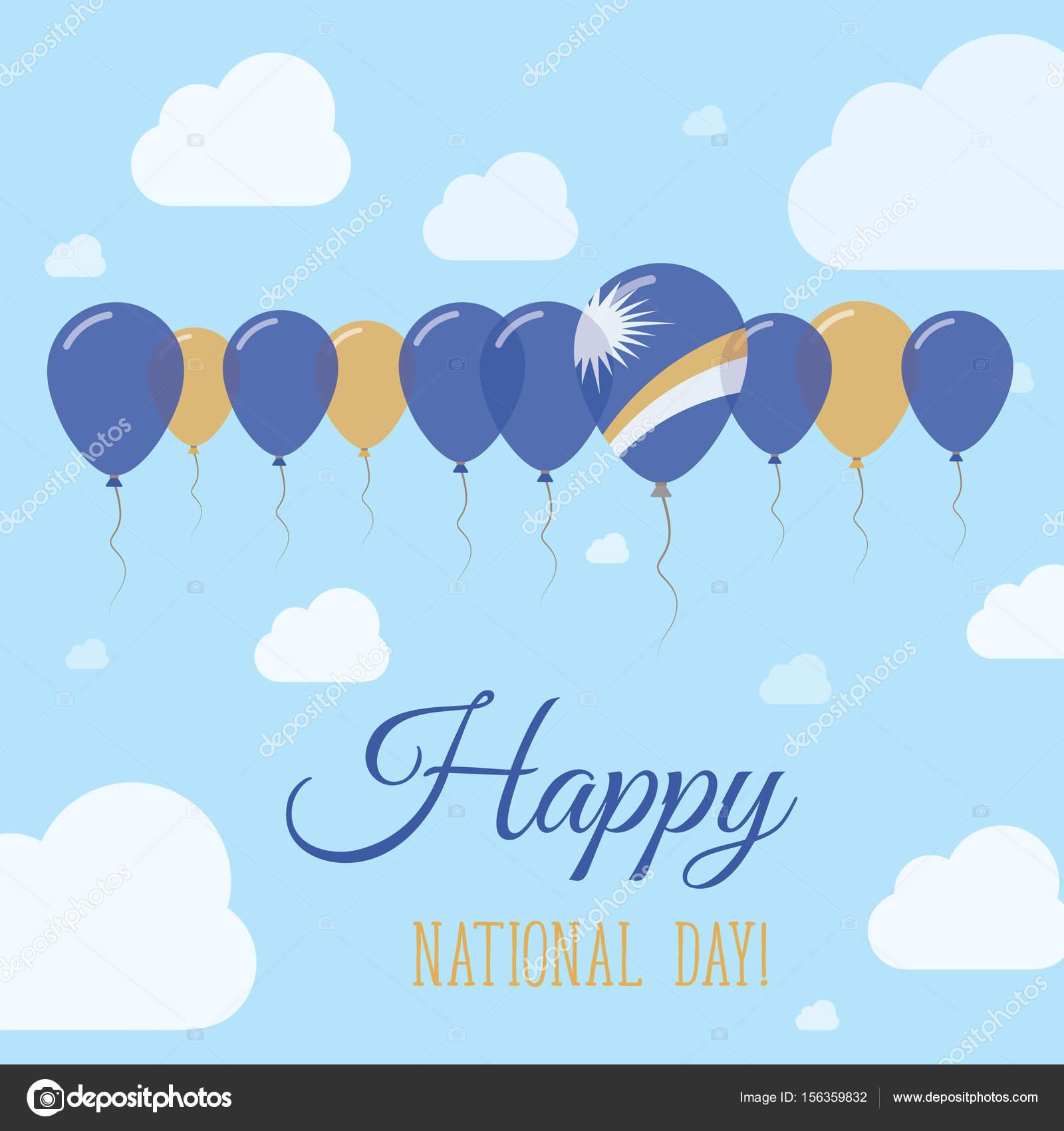 Wyspy Marshalla Narodowy Dzień Płasko Patriotyczne Plakat