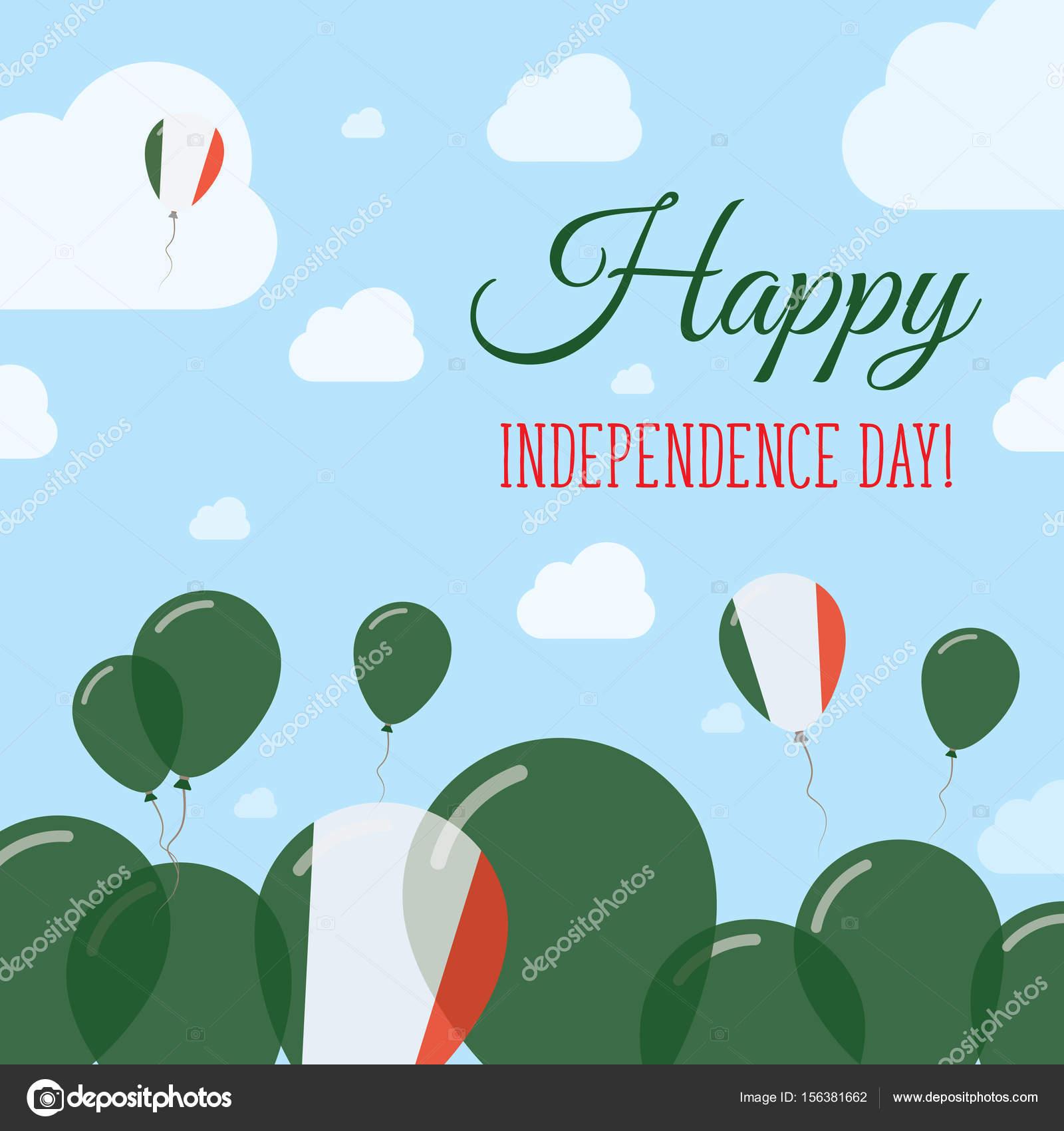 Carte Bonne Fete En Italien.Carte De Vecteur Italie Fete De L Independance Design Plat