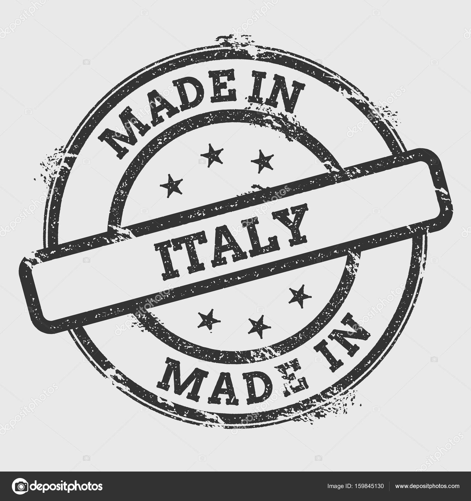 59b07ea5e2 Made in Italy rubber stamp isolated on white background. Grunge round seal  with text