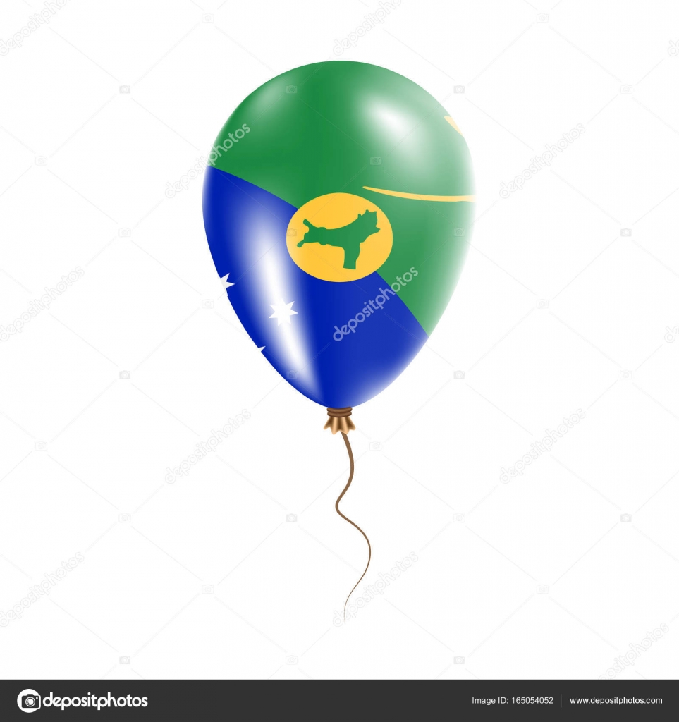 Christmas Island balloon with flag Bright Air Ballon in the Country ...