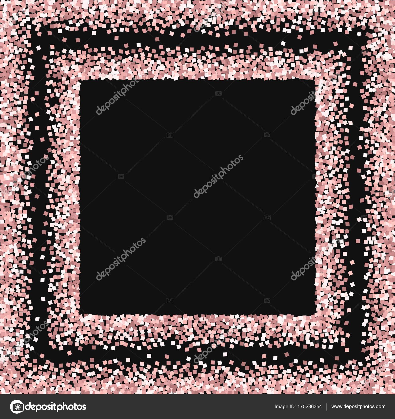 b10324a53d6a Glitter Oro rosa Plaza salpicada de marco rosa brillo de oro sobre ...