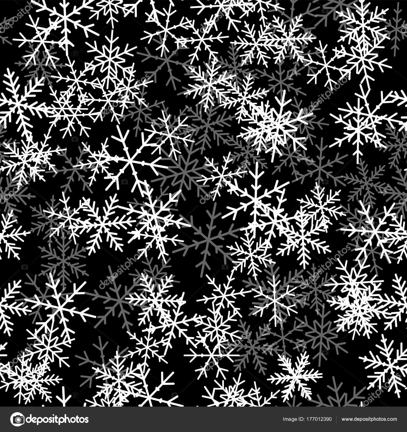 Dibujos Impresionantes De Navidad.Patrones Sin Fisuras De Los Copos De Nieve Blancos Sobre