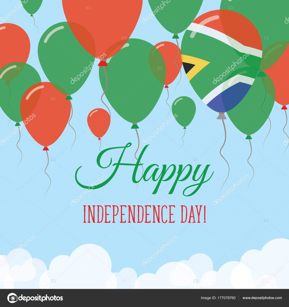 South Africa Independence Day Flat Greeting Card Flying Rubber