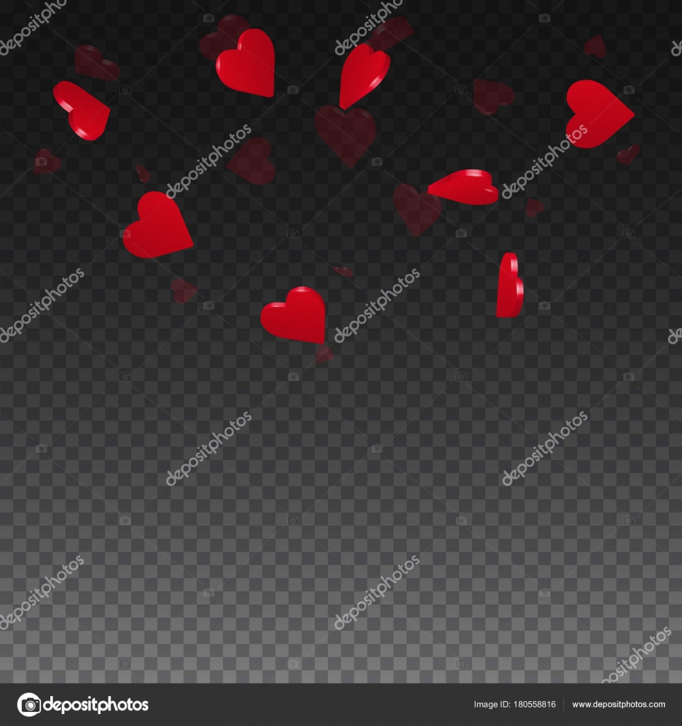 3d hearts valentine background Top semicircle square on