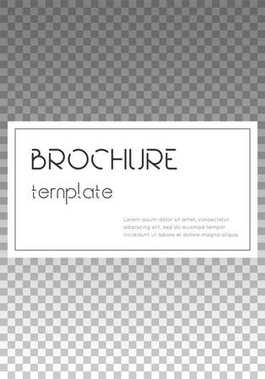 Brochure template design Modern cover page layout Exquisite trendy poster design Minimalistic