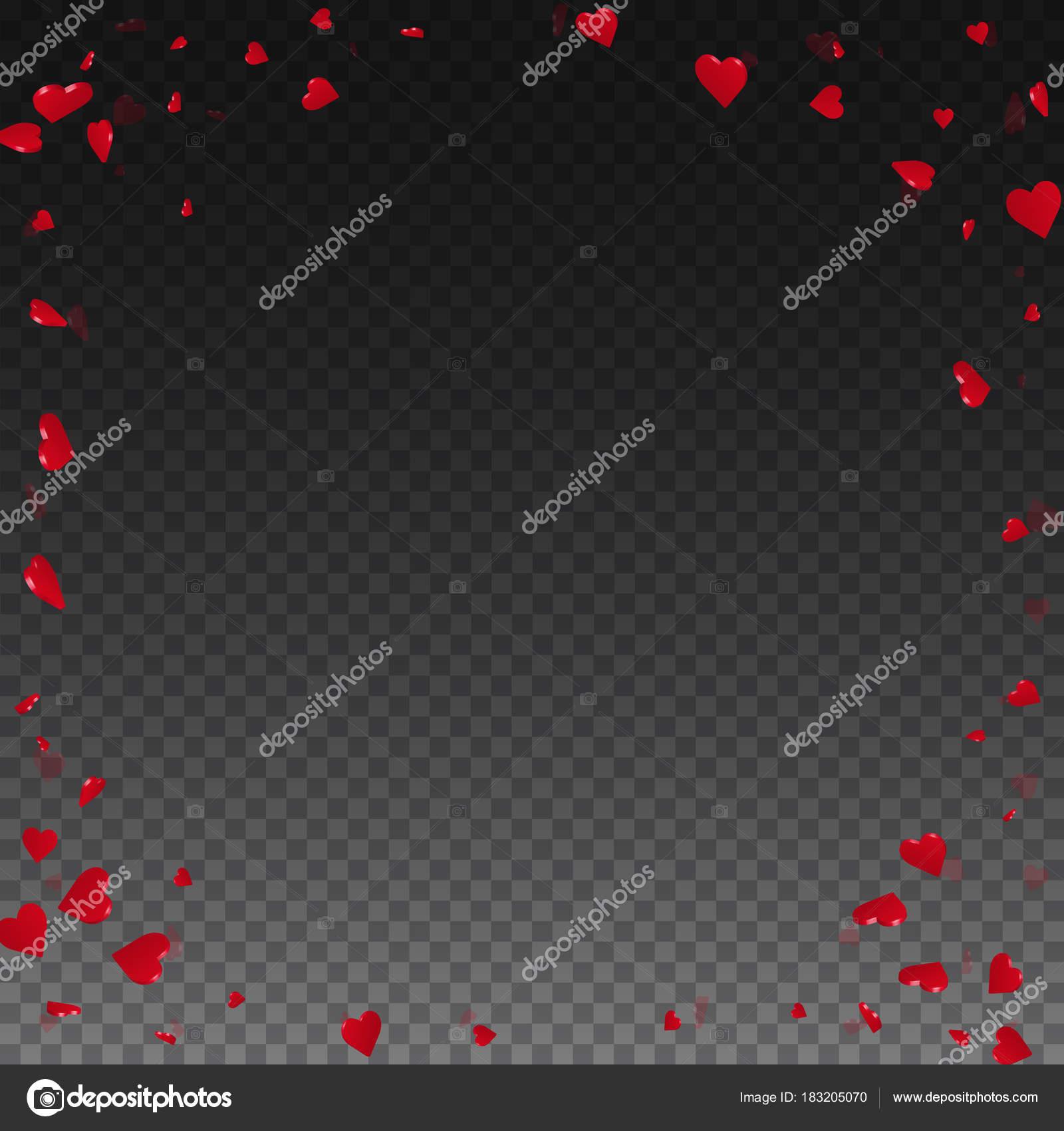 3D Herzen Valentinstag Hintergrund Ecke Rahmen auf transparenten ...