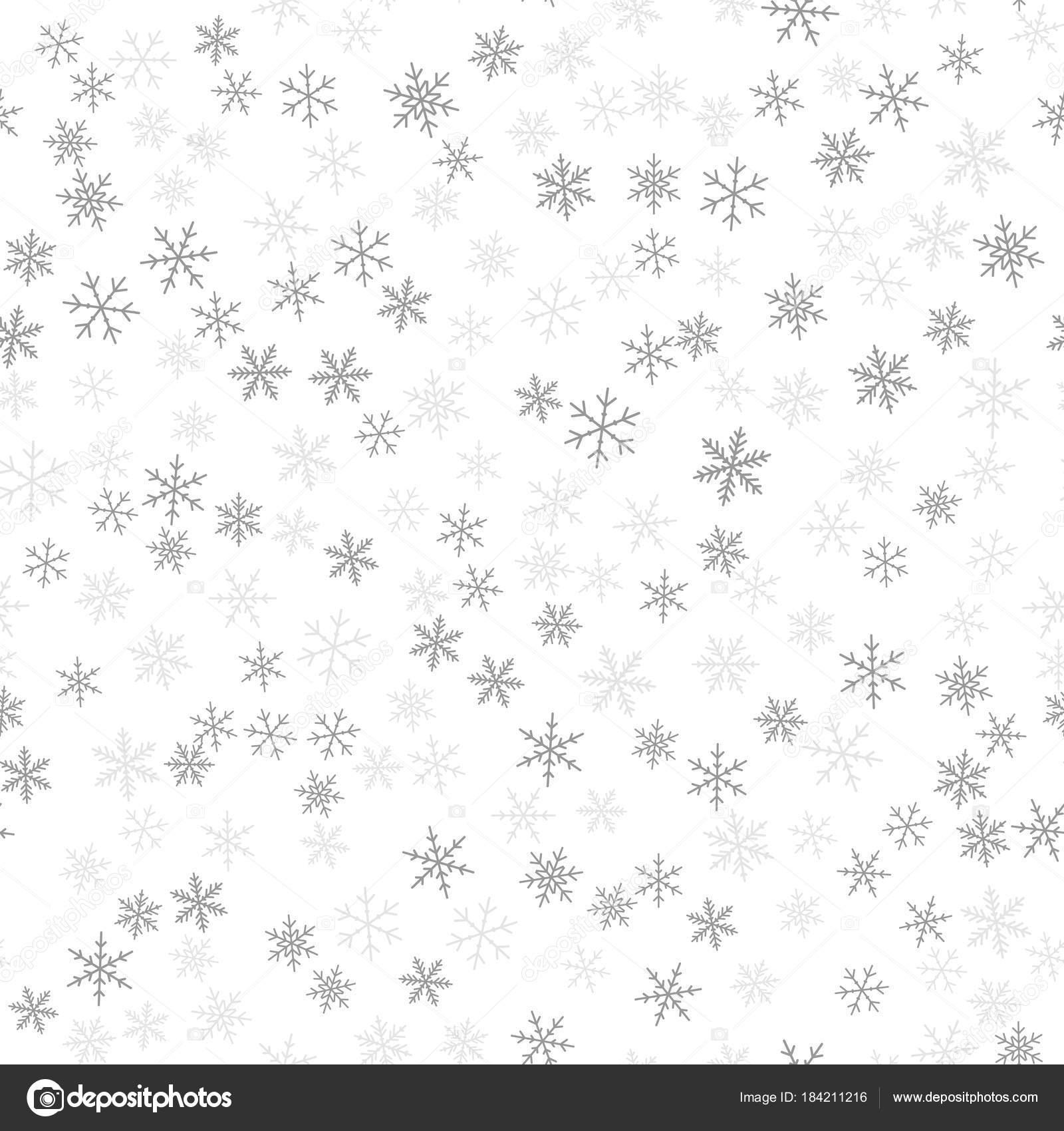 Dibujos Impresionantes De Navidad.Patrones Sin Fisuras De Los Copos De Nieve Negra En Fondo
