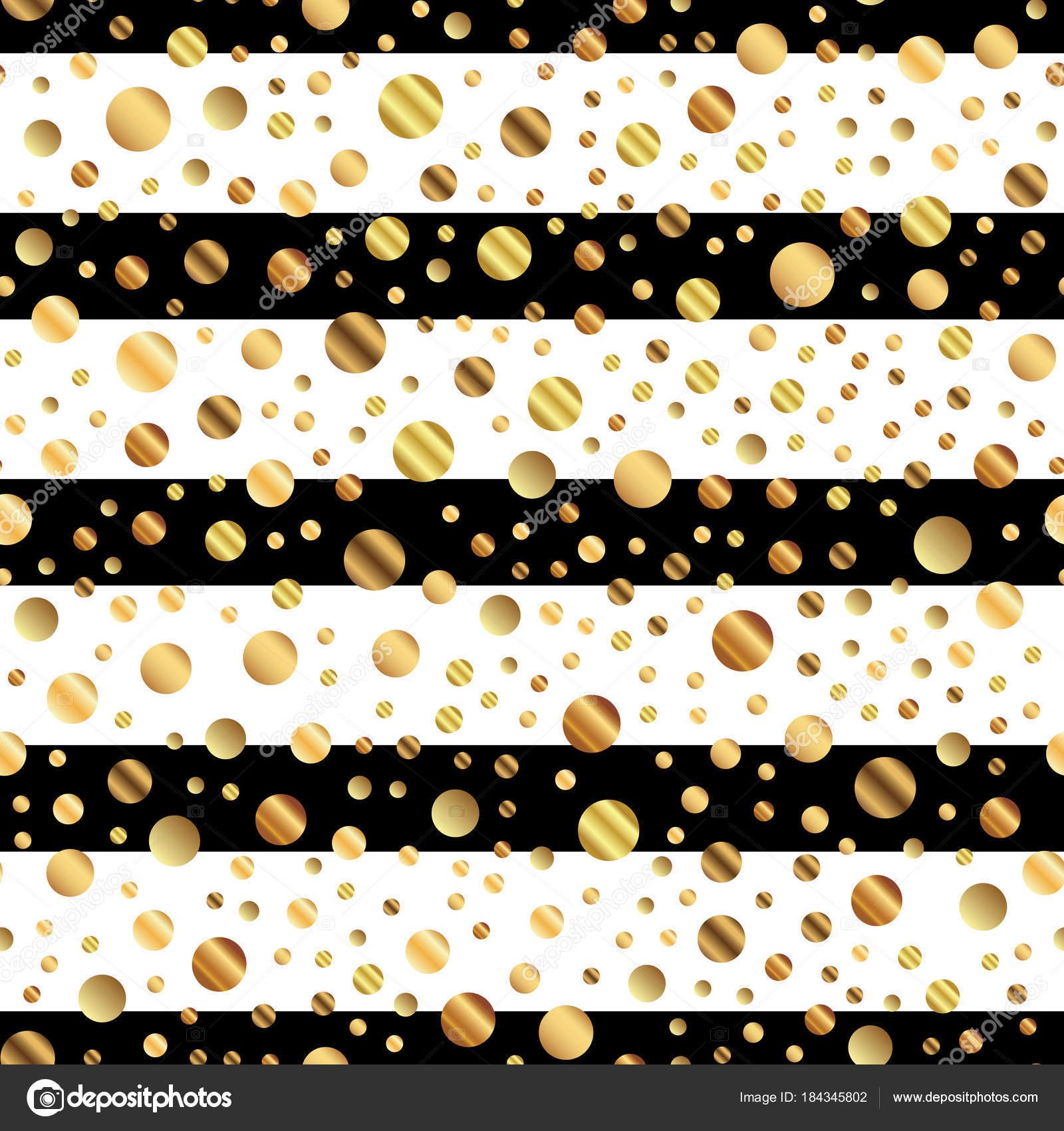 Patrón sin fisuras puntos oro en puntos oro degradado agradable de ...