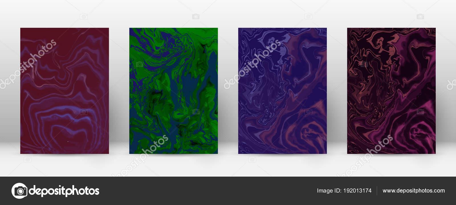 Resumen folleto de mármol minimalista hipster de suminagashi de ...