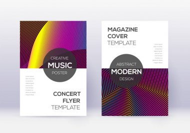 Modern cover design template set. Rainbow abstract