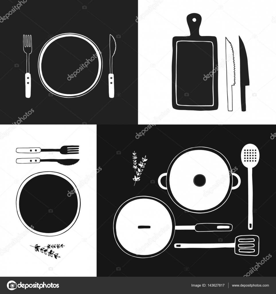 Insieme dell 39 icona di vettore di utensili da cucinare - Si usa per cucinare 94 ...