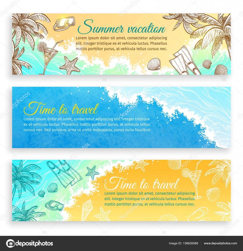 Sommer-Banner-Vorlagen — Stockvektor © alhontess.gmail.com #156626588