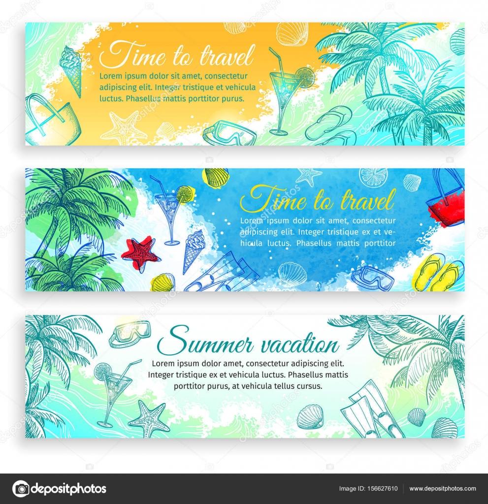 Sommer-Banner-Vorlagen — Stockvektor © alhontess.gmail.com #156627610