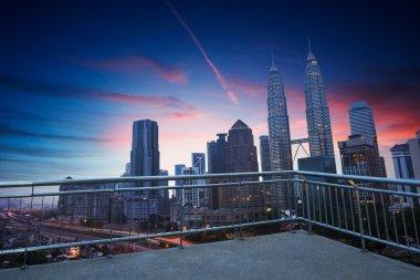 Kuala Lumpur evening skyline