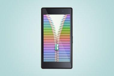 pencils on smart phone screen