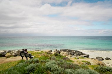 People at Seascape of Cape Leeuwin
