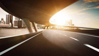 Highway and bridge overpass