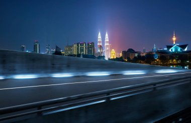 Motion blur of city road