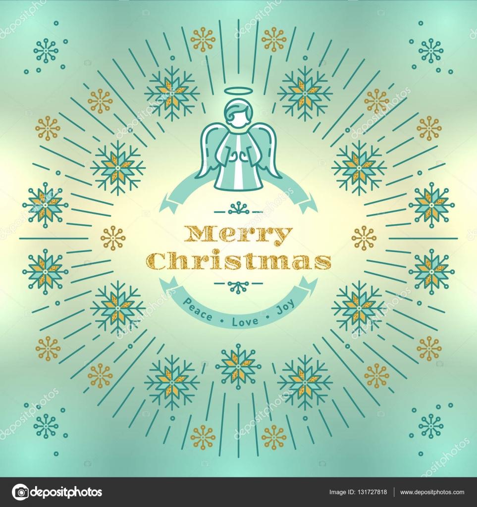 Auguri Di Natale Religiose.Vettore Di Natale Religiosi Cartolina D Auguri Di Natale Vettore