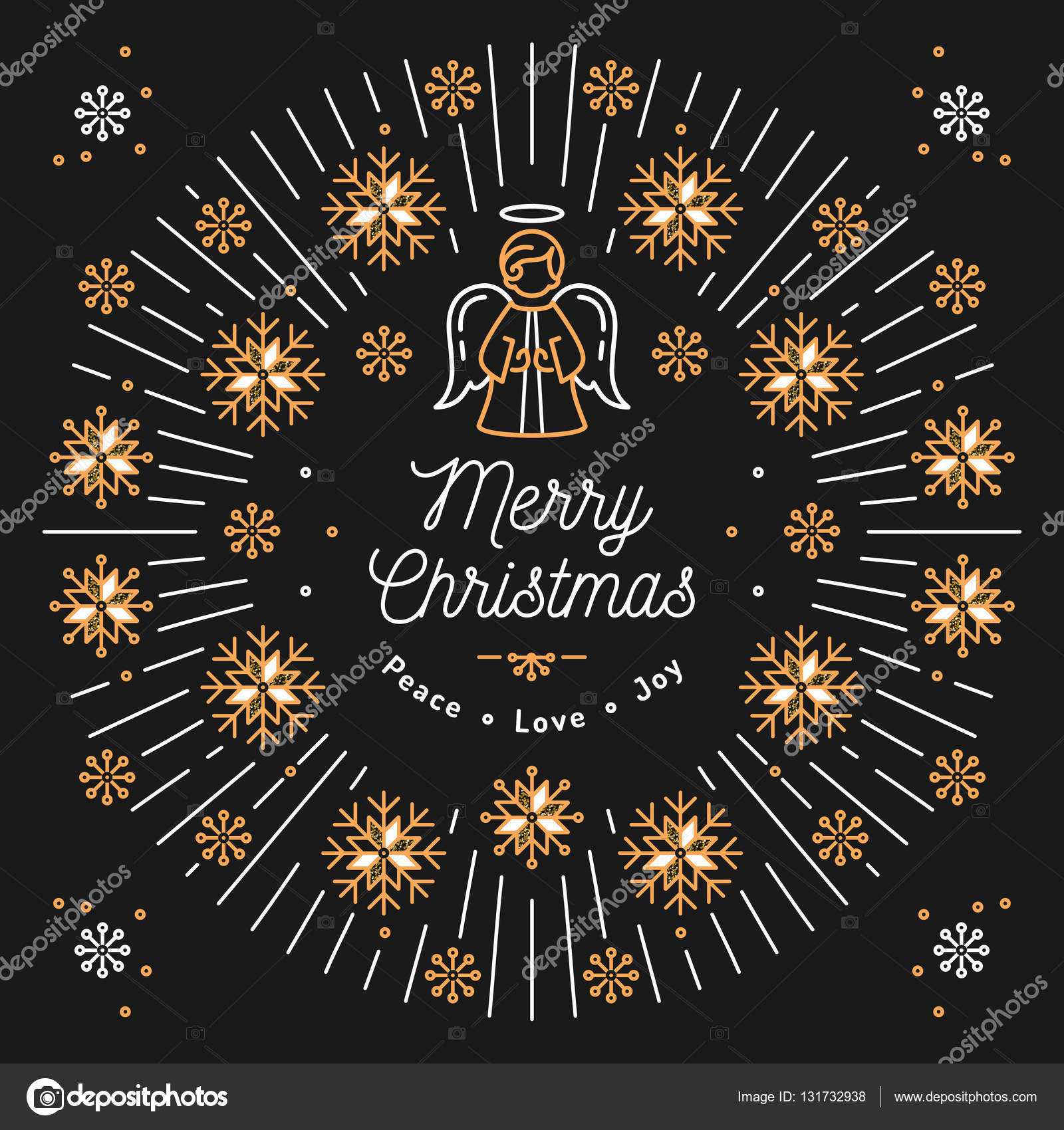 Merry christmas card xmas religious poster snowflakes trendy merry christmas card xmas religious poster snowflakes trendy bursting rays stock vector reheart Images