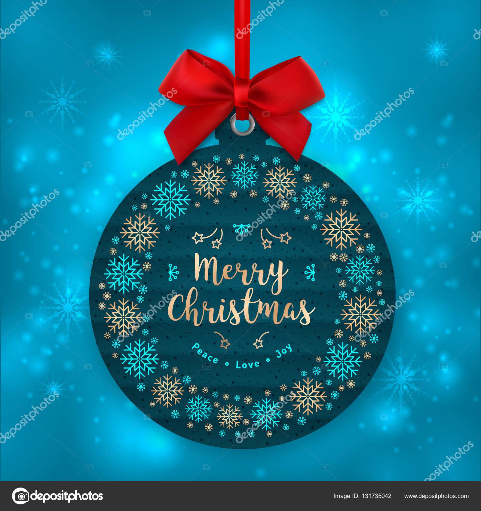 Tarjeta de Navidad, decoración del árbol. Etiqueta del regalo de ...