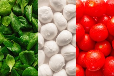 Flag of Italy made of food