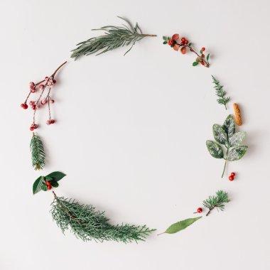 Christmas round frame