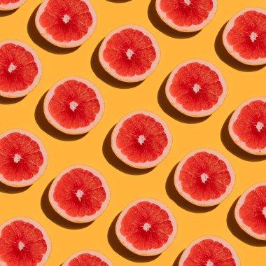 pattern with ripe Grapefruit